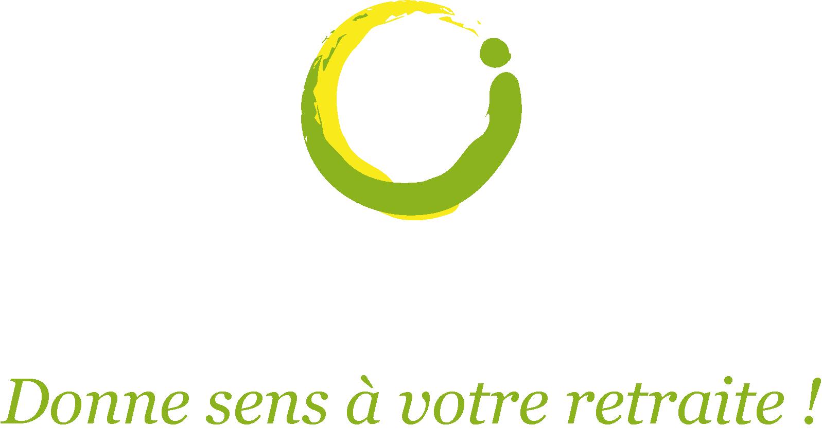 Logo Realisavenir retraite blanc